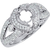 Semi-Mount Engagement Ring with Split Shank