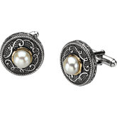 Freshwater Cultured Pearl Cuff Links