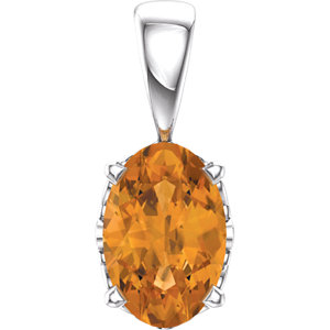 Oval Gemstone 4-Prong Scroll Setting® Pendant or Mounting