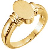 Open Back Oval Signet Ring
