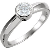 Round Bezel Engagement Ring