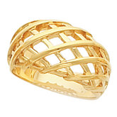 11mm Latticework Dome Ring