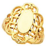 Filigree Signet Ring