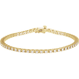 "14K Yellow 2 CTW Diamond 7.25"" Line Bracelet"