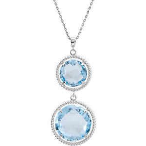 Round Shaped Dangle Pendant or Necklace