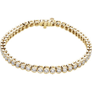 "14K Yellow 3 CTW Diamond Line 7.25"" Bracelet"