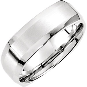 Fancy 7mm Beveled Edge Carved Band