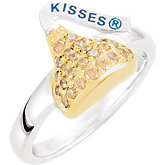 HERSHEY'S KISSES® Cubic Zirconia Birthstone Rings