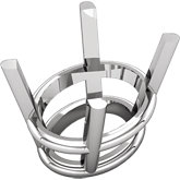 Oval 4-Prong Wire Basket Setting