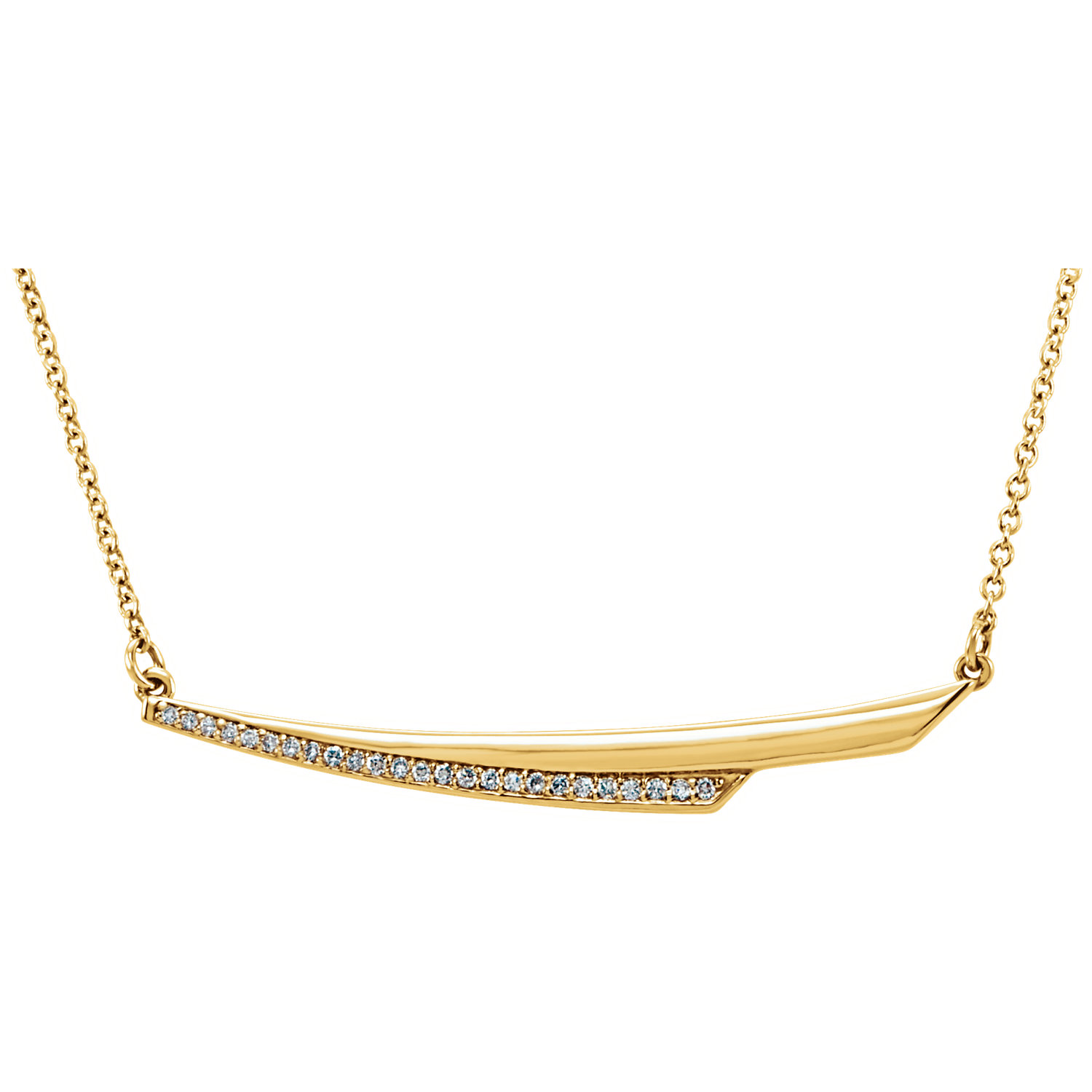 "14kt Yellow .08 CTW Diamond 17.5"" Necklace"