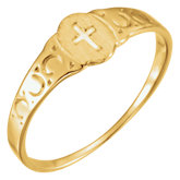 Youth Signet Ring with Cross