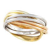 Tri-Color 6-Band Rolling Ring
