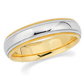 5.5mm Two-Tone Comfort-Fit Milgrain Band