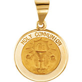 Hollow Round Holy Communion Medal