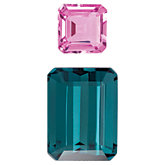 Genuine Green Tourmaline & Pink Sapphire Layout