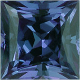 Square Genuine Alexandrite (Black Box)