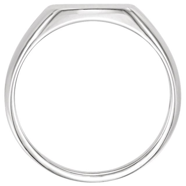 Sterling Silver 13x12mm Signet Ring