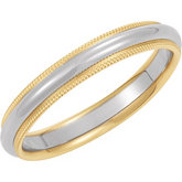 3.5mm Two-Tone Comfort-Fit Milgrain Band