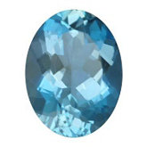 Oval Genuine Aquamarine (Black Box)