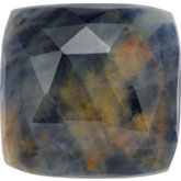 Antique Square Genuine Included Blue Sapphire