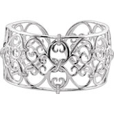 1/3 ct tw Diamond Cuff Bracelet