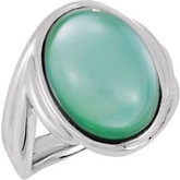 Genuine Dyed Mother of Pearl with White Quartz Top Ring