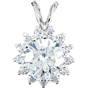 Created Moissanite Pendant