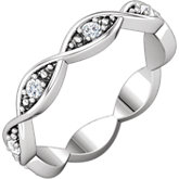Infinity-Style Diamond Eternity Band or Mounting