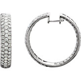 6 ct tw Diamond Inside/Outside Hoop Earrings