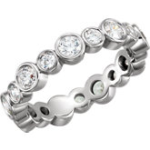 Cubic Zirconia Eternity Band or Mounting