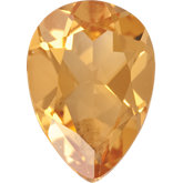 Pear Genuine Citrine
