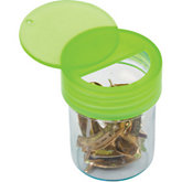 Large Plastic Lime Green Vials with Swing-Top Lid