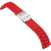 Red Regular Genuine Silicone Rubber Watch Strap