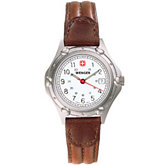 Wenger® Ladies Brown Standard Issue Military Time Watch
