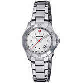 Wenger® Ladies Alpine White Dial Stainless Steel Bracelet Watch