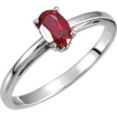 Scroll Setting® Design Ring Mounting for Oval Gemstone Solitaire