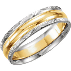 Two-Tone 6mm Design Band