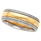 6 mm Two-Tone Comfort-Fit Double Milgrain Band