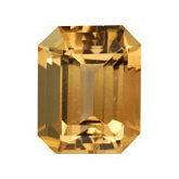 Emerald/Octagon Genuine Golden Precious Topaz (Black Box)