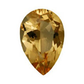 Pear Genuine Golden Precious Topaz (Black Box)