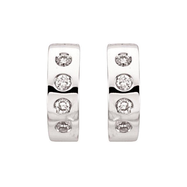 14K White & Rhodium Plated 1/3 CTW Diamond Earrings