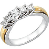 1 ct tw Diamond Two Tone Anniversary Band