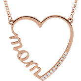 Diamond Mom Necklace or Center Mounting