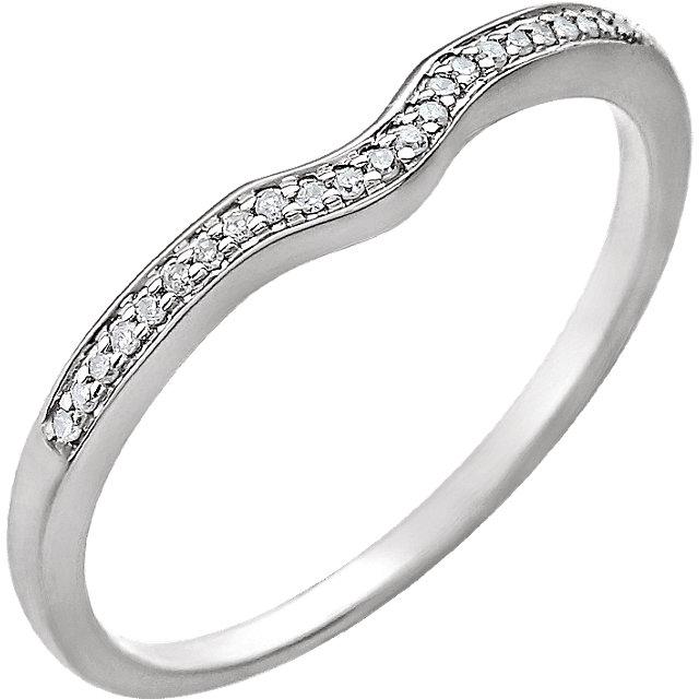 14K White .06 CTW Diamond Band for 4mm Round Ring