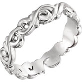 Sculptural Scroll Design Band
