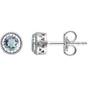 Birthstone Earrings or Mounting