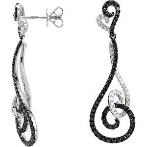 Black & White Diamond<br> Earrings