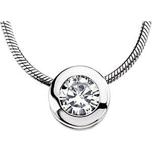 Aharles & Aolvard<br> Moissanite® Bezel<br> Necklace