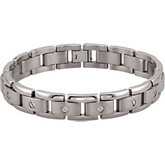 Titanium Outside Beveled Link Bracelet