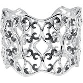 1 1/3 CTW Black & White Diamond Cuff Bracelet